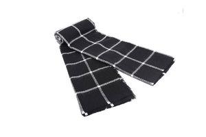 Zwart witte unisex shawl