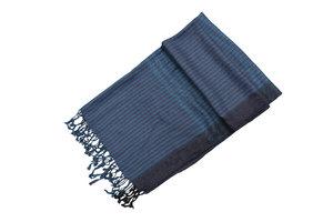 Trendy heren sjaal donkerblauw gestreept