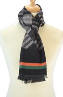 Heren sjaal zwart Diamond Lines
